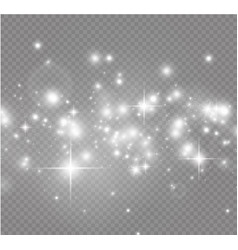 white sparks and golden stars glitter special vector image