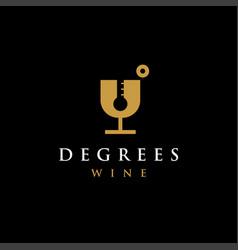 wine thermometer temperature logo icon template vector image