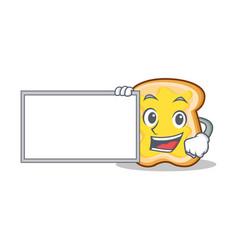 With board slice bread cartoon character vector