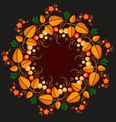 Wreath khokhloma vector