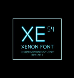 xenon fonts on back background neon fonts vector image