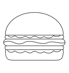 burger icon outline style vector image