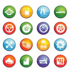 Car service icon set vector
