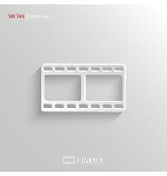 Film icon - white app button vector image