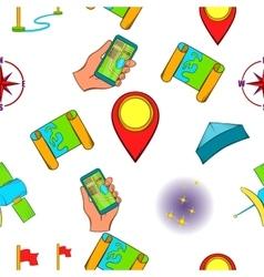 Find way pattern cartoon style vector image vector image