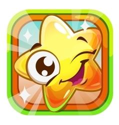 Funny shiny blinking star character vector image vector image