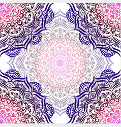 hand-drawn seamless mandala vector image