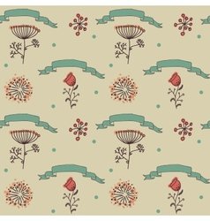 ornament seamless of floral graphic design vector image