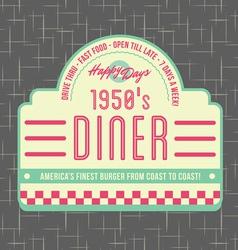 1950s Diner Style Logo Design vector image