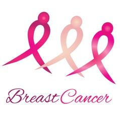 Breast cancer logo awareness ribbons vector