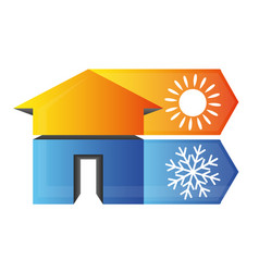 Climate in the house symbol vector