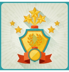 Grunge background with trophies and awards vector image vector image