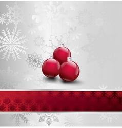 Image Of Christmas with ball vector image vector image