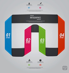 infographics design 5 vector image vector image