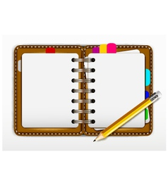notepad and pencil for you design vector image
