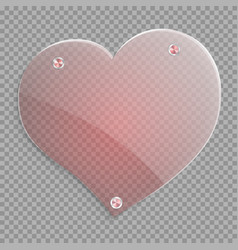 red transparent heart vector image vector image