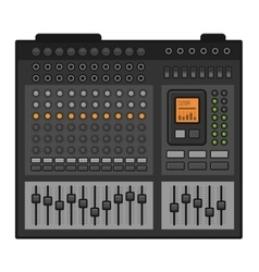 Studio Sound Mixer Music Equalizer Console vector image vector image