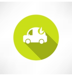 eco car icon vector image