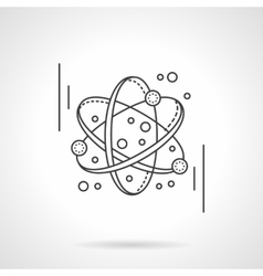 Molecule model flat line design icon vector image