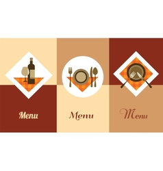 template for restaurant menu vector image vector image