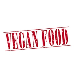 vegan food red grunge vintage stamp isolated on vector image vector image
