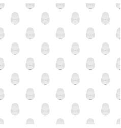 white baseball cap pattern seamless vector image vector image
