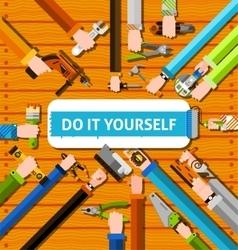 Diy Hands Poster vector image