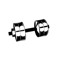 fitness club logo gym logotype dumbbel vector image