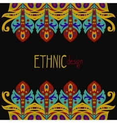 horizontal ethnic african template vector image vector image