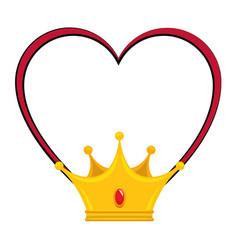 king crown luxury symbol vector image vector image