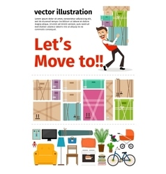 Moving into new apartment infographics vector image