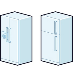 refrigerators vector image vector image