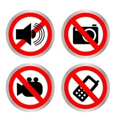 Set of icons forbidding vector image