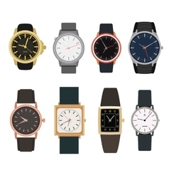 Set of watches in classic design vector image vector image