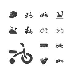 13 bike icons vector