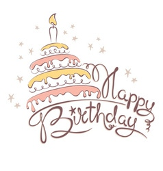 Abstract - cake and birthday vector image