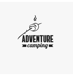 Adventure Camping Badge vector image
