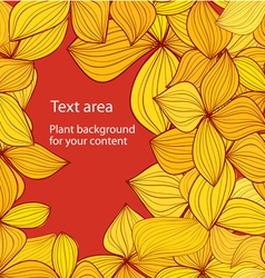 Autumn background with copyspace vector image vector image