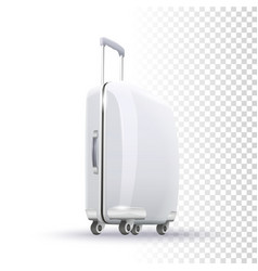 blank suitcase layout vector image