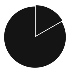 Business pie chart icon simple style vector