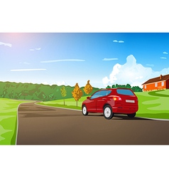 Car travel vector image