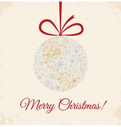 Christmas ball on beige background vector image
