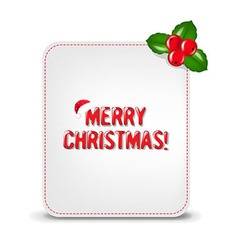Christmas Banner With Holly Berry vector