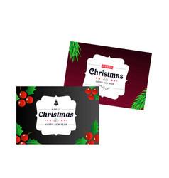 christmas card stylish vector image