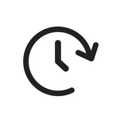 clock time icon timer 24 hours sign vector image