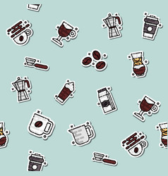 coffee concept icons pattern vector image