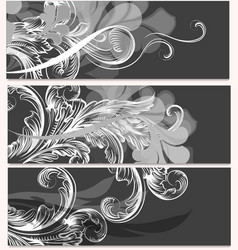 collection business cards with ornament vector image