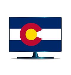 Colorado flag tv vector