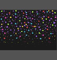 colorful confetti background vector image