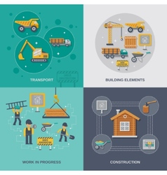 Construction Flat Set vector
